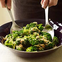 Broccoli with Lemon-Garlic Crumbs