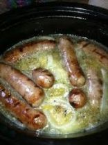 Beer 'n Brats in a Slow Cooker