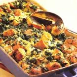 Spinach & Jack Cheese Bread Pudding