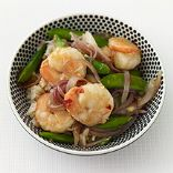 Weight Watcher's Asian Shrimp and Snap Pea Stir-Fry