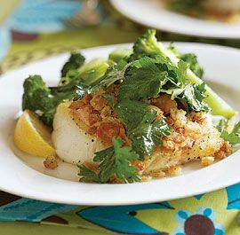 Sear roasted Cod or Halibut