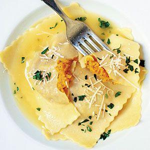 Butternut Squash Ravioli w/ Rosemary Oil