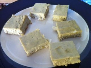 Low Carb Green Tea Lemon Protein Squares