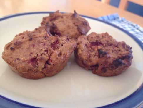 High Fibre Berry Mini Muffins