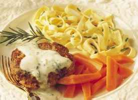Lamb Burgers with Rosemary-Mint Sauce