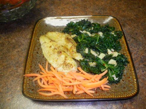 Garlicky Kale with Lemon Juice