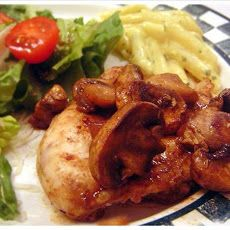 Balsamic Chicken with Mushrooms & Pears