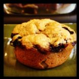 Light Whole Wheat Banana Blueberry Muffins
