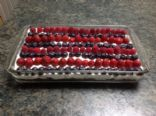 4th of July No Bake Cheesecake