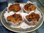 Healthy Cherry (or Peach) Muffins