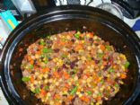 Spicy Ranch Veggie & Bean Casserole