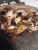 Pineapple Spinach BBQ Pizza