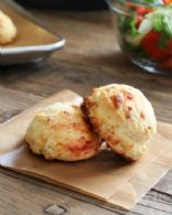 Gluten Free Cornmeal & Cheese Drop Biscuits