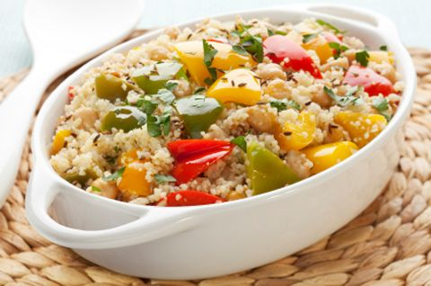 Whole Wheat Couscous with Spinach and Squash