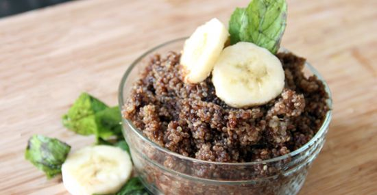 Chocolate Banana Quinoa Breakfast