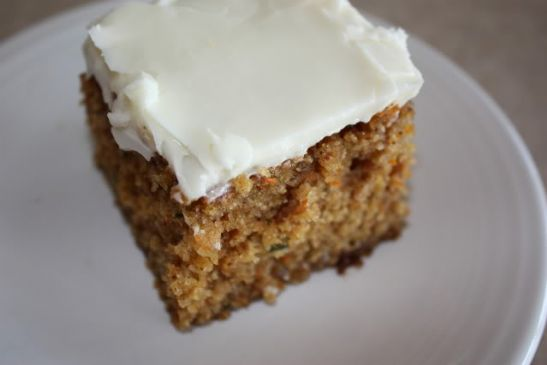 Carrot Cake Recipe No Icing: Zucchini-Carrot Cake With Cream Cheese Frosting Recipe