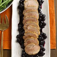 Pork Tenderloin with Blueberry Sauce