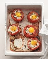 Baked Eggs in Whole Roasted Tomatoes