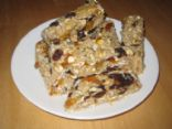 Chewy Granola Energy Bars with Dried Fruit