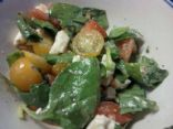 Tomato, Feta, and Spinach Salad