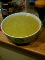 Pea and potato soup