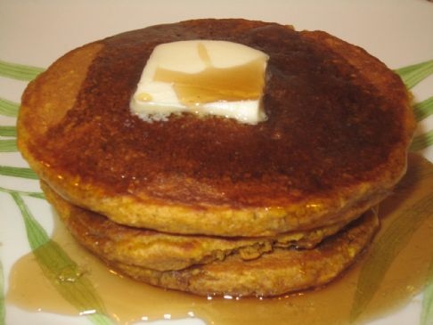 Virginia's Yummy & Delicious Pumpkin Oat Pancakes
