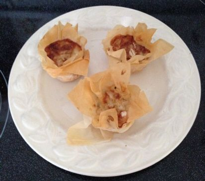 Apple & Brie  Phyllo Bites