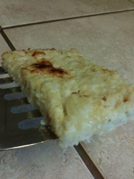 cheesy cauliflower flat snack