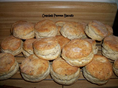 Cracked Pepper Biscuits