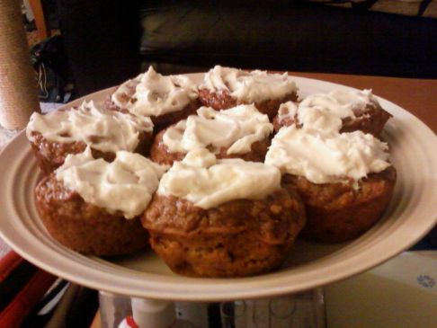 Whole Wheat Carrot Pumpkin Muffins (Low-Fat, High-Protein )