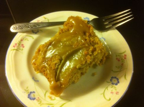 Apple Pumpkin Carrot Cake (with caramel sauce)