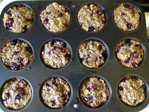 Banana zucchini berry muffins