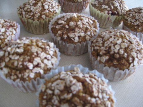 Pumpkin Cranberry Oat Bran Muffins