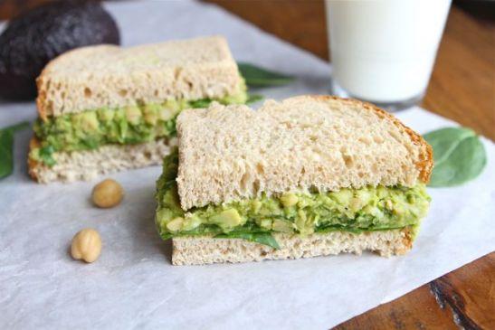 Chickpea Guacamole Eggless Egg Salad Sandwich Spread - Vegan Recipe ...