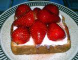 Strawberry and Honey Ricotta  Bruschetta