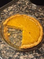 Pumpkin pie with graham cracker crust, low fat