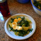 Beet Greens and Spinach salad