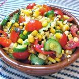 Tomatoe and Cucumber Salad with Corn
