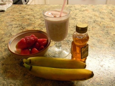 Health Banana Strawberry milkshake