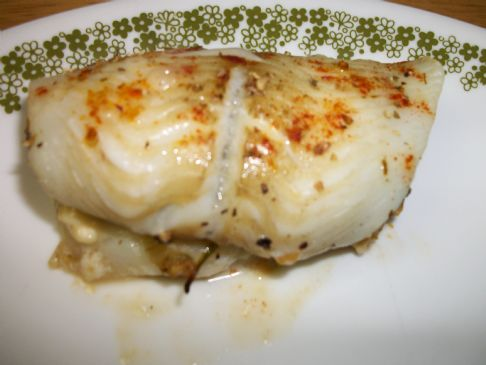 Flounder Filet Stuffed with Spinach and Feta