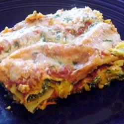 portabella Mushroom w/spinach and feta lasagna