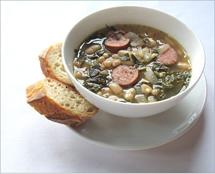 White Bean soup with Turkey Sausage