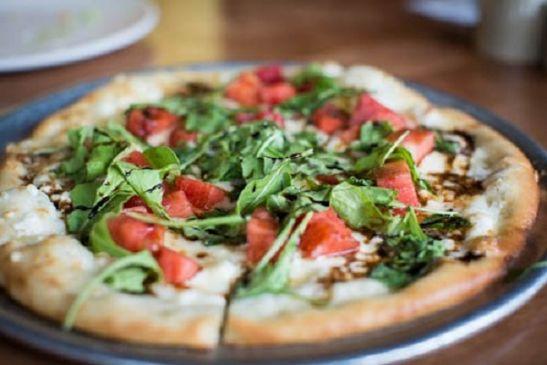 Feta, Arugula, & Spinach Pizza