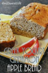 Greek Yogurt Cinnamon Apple Bread