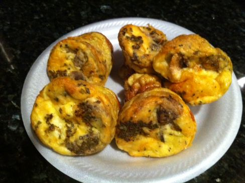 Egg bake mushroom and swiss