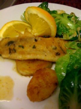 Trout with lemon and tyme