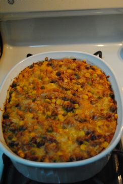 Vegetarian Red Enchilada Casserole