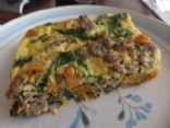 Sweet Potato, Spinach & Sausage Casserole