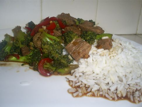 Broccoli Beef and Rice