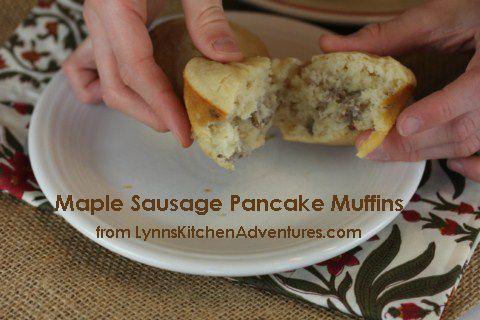 Maple Sausage Pancake Muffins Gluten Free